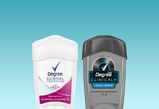 Degree Deodorants and Antiperspirants