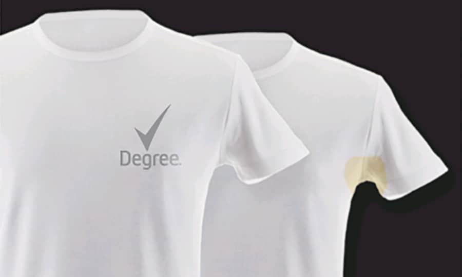 Ultraclear black white innovation degree for Deodorant marks on shirt